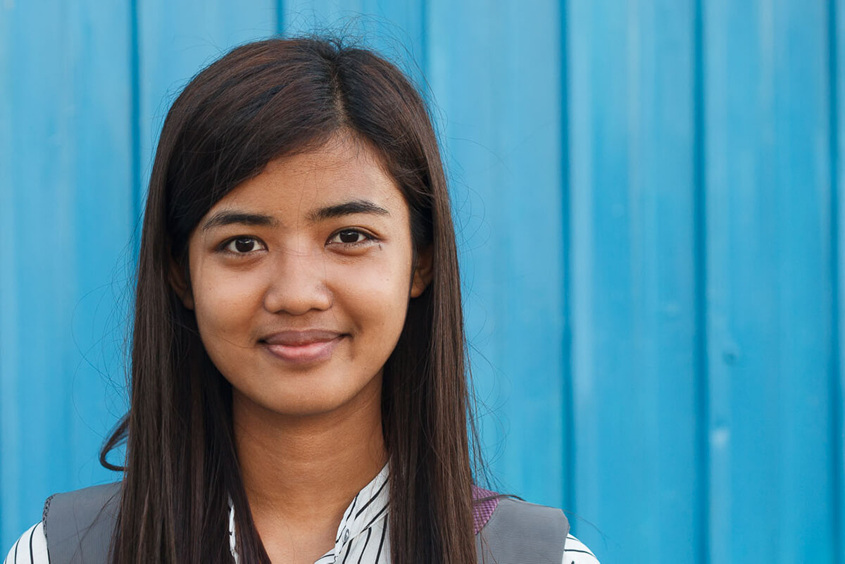 Portrait of May, a Zomia student studying at Hong Kong Education University